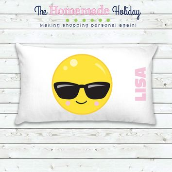 Sunglass Emoji Personalized Pillowcase