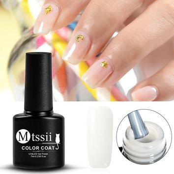 Mtssii 1Bottel Opal Jelly Nail Gel Polish 7ml Semi-transparent White Varnish Soak Off Manicure Nail Art UV Gel Lacquer