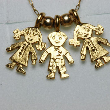 Babies pendants on 14K goldfilled chain