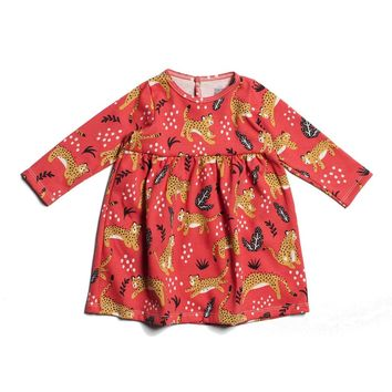 Wildcats Coral Baby Dress by Winter Water Factory