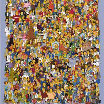 The Simpsons TV Show Cast Poster 24x36