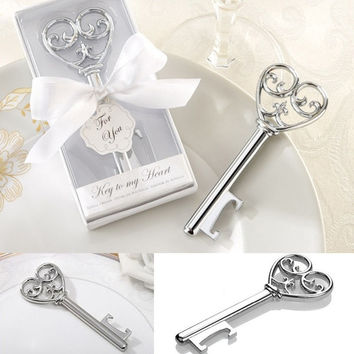 Key Design Cute Bottle Opener Corkscrew Kitchen Party Wedding Shower Favor Nice = 1932672004