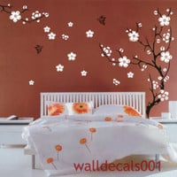 Cherry blossom-Vinyl Wall Decals Wall Stickers wall decor room decor girl kids decal flower decal Baby nursery decal room decor