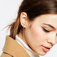 ASOS Metal Ball Swing Earrings