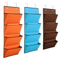 4 Tier Oxford Storage Bag Hanging Organiser Rack Clothes Wardrobe Over Door