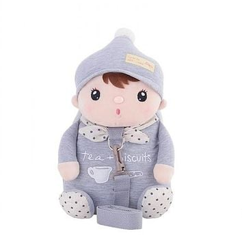 School Backpack Cute Rabbit Anti-lost School Bags For Girls Bunny Plush Toy Baby Girl Backpack Kindergarten Bags Children's Gifts For Age 1-3 AT_48_3