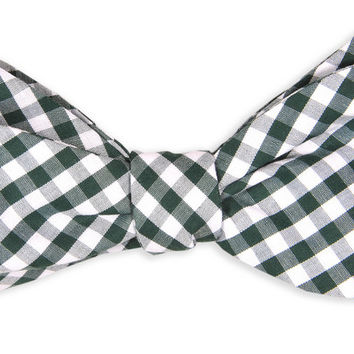 Country Day Green Check Bow Tie by High Cotton