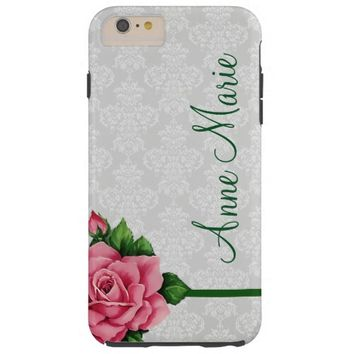 Pretty Damask and Floral Rose iPhone 6 Case