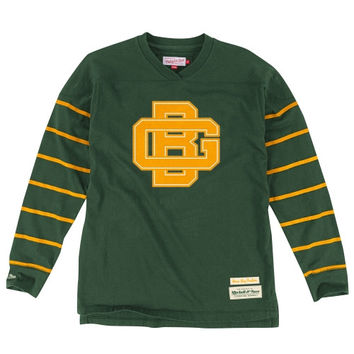 Green Bay Packers Mitchell & Ness Cornerback Long Sleeve V-Neck T-Shirt - Green
