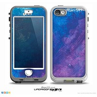 The Blue & Purple Pastel Skin for the iPhone 5-5s NUUD LifeProof Case for the lifeproof skins