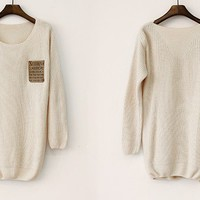 Loose Beige Sweater on Luulla