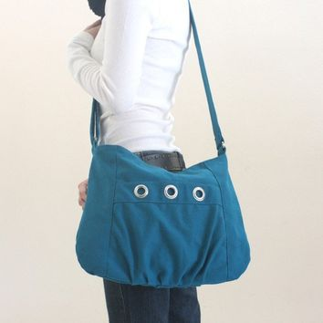Denise shoulder bag / messenger Teal by christystudio on Etsy