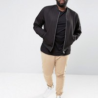 ASOS PLUS Skinny Joggers In Beige at asos.com