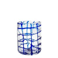 Impulse Abstract Rocks Hand-Crafted Glass, Blue, Set of 4