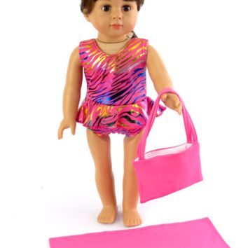 "18"" Doll Summer Beachwear"