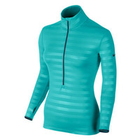 Nike Pro Hyperwarm Fitted Emboss Half-Zip - Women's at City Sports
