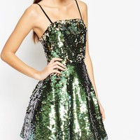 ASOS NIGHT Sequin Bandeau Mini Dress