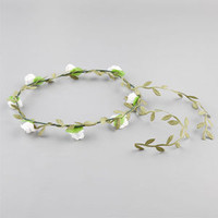 Rosebud Wire Headwrap White One Size For Women 22615415001