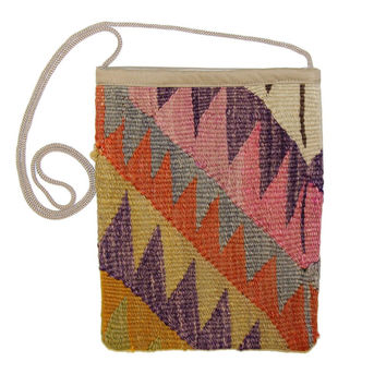 Elina Multi Liva Pattern Kilim Bag