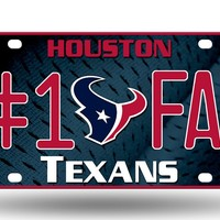 Rico Houston Texans License Plate  #1 Fan
