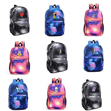 KPOP BTS Bangtan Boys Army  home  boys  bt21 Fans Club Same logo Starry sky harajuku style The Same unisex backpack student fashion bag AT_89_10