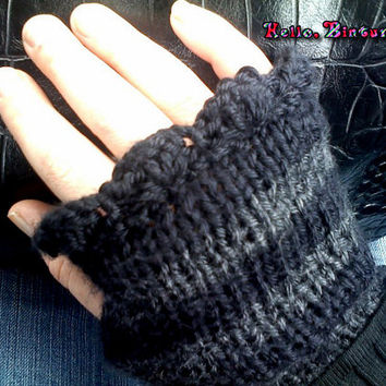 Dark Striped Gloves