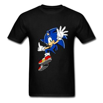 Teenager Fitted T-Shirt Men Sites 3D Sonic Game Tee with anime Cartoon Sonic The Hedgehog Great Choice DIY T Shirt Men