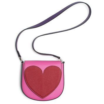 Gucci Heart Borsa Kids Leather Girls Pink Red Handbag New Authentic