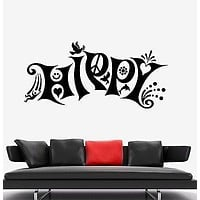 Wall Vinyl Hippy Love Music Freedom Weed Mural Vinyl Decal Unique Gift (z3383)