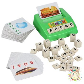 New Early childhood educational aids for children toys fun learning English spell the word