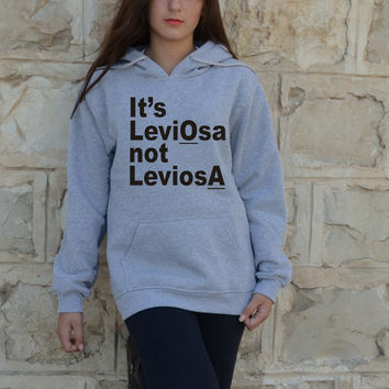 It's Leviosa not Leviosa Hoodie in Grey Harry potter Levitation Magic Hermione Granger to Ron Weasley hoody gryffindor