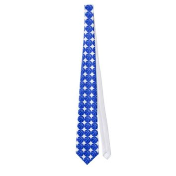 Custom Blue Basketball Neck Tie