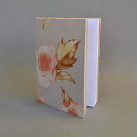 Writing Journal /  Handmade Sketchbook / Handmade Journal / Unique Journal /  Notebook /  Diary /  A5. 8 x 6 inch from cotton cloth