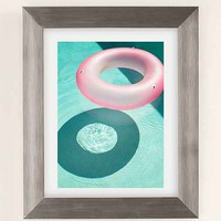 George Byrne Pink & Green #1 Art Print