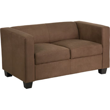 Flash Furniture Prestige Series Chocolate Brown Microfiber Loveseat