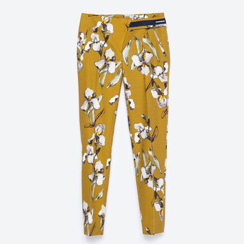 WATERCOLOR PRINT TROUSERS