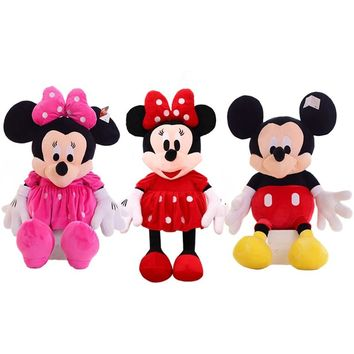 1pc 50cm Classical Mickey And Minnie Mouse Plush Toy Stuffed soft cartoon Animal Doll For Children's Gift Christmas Gift