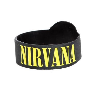 Nirvana Smiley Die-Cut Rubber Bracelet - 301651
