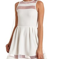 GOSSAMER CUT-OUT SKATER DRESS