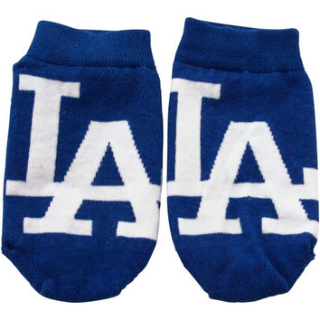 L.A. Dodgers Preschool Realistic Mascot Socks - Royal Blue - http://www.shareasale.com/m-pr.cfm?merchantID=7124&userID=1042934&productID=540318076 / L.A. Dodgers