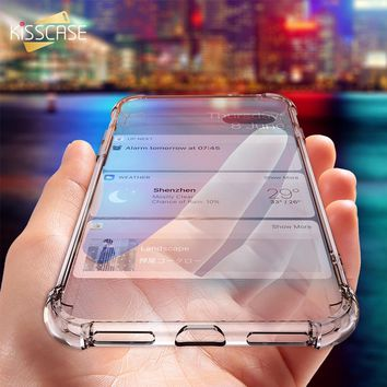 I Phone X 6 7 8 Plus Clear Shockproof Soft Silicone Transparent Cases