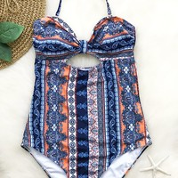 Cupshe Always On My Mind Print One-piece Swimsuit