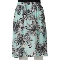 Woven Crepe Printed Midi Skirt from S.o. R.a.d. Collection by Awesomeness TV - Juniors