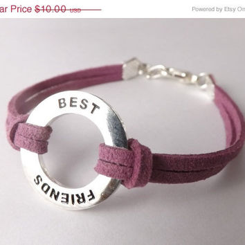 Best Friends Forever Charm Bracelet - Made in the USA - friendship bracelet - inspiration bracelet