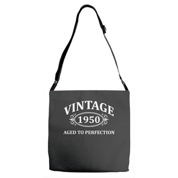 Vintage 1950 Aged to Perfection Adjustable Strap Totes
