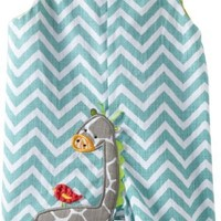 Mud Pie Unisex-Baby Newborn Safari Giraffe Shortall