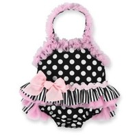 Mud Pie Baby Girls Polka Dot One Piece Bathing Suit (9-12 Months)