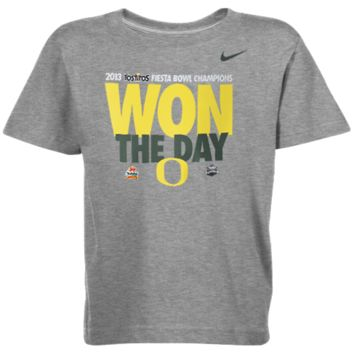 Nike Oregon Ducks Toddler 2013 Fiesta Bowl Champions Locker Room T-Shirt - Gray - http://www.shareasale.com/m-pr.cfm?merchantID=7124&userID=1042934&productID=528460787 / Fiesta Bowl Gear