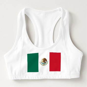 Women's Alo Sports Bra with flag of Mexico
