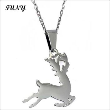 Cute Style Animal Foot Stainless Steel Pendant Necklace Funy fashion jewelry 2017 new hot necklace jewelry free shipping